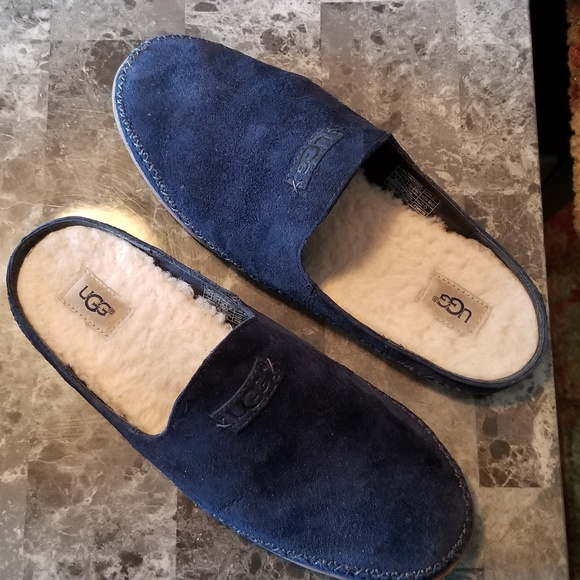 bc7d39168f1 UGG WOMENS TAMARA SUEDE SLIPPERS 8 NAVY